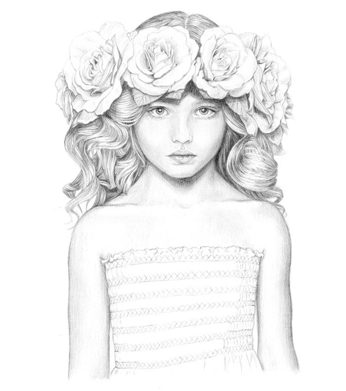 Heavyweight - pencil illustration by Jutta Rikola