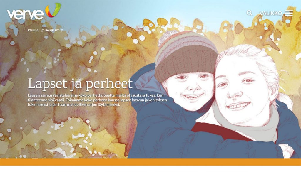 Verve website Children and families